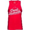 Drink Wisconsinbly Tank Top (Red)