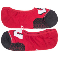 '47 Brand Invisible Wisconsin Socks (Red)