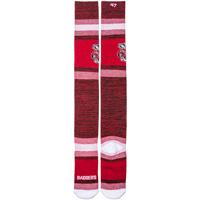'47 Brand Bucky Badger Striped Knee High Socks (Red)