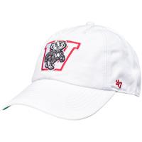 '47 Brand Bucky Badger Block W (White)