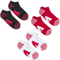 '47 Brand Block W Ankle Socks 3-Pack (Red/White/Black)