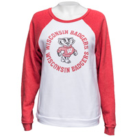 Blue 84 Women's UW Cozy Fleece Crew (White/Red)