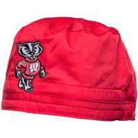CID Bucky Badger Scrub Cap (Red)