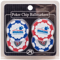 Ahead AmFam Insurance Poker Chip Ballmarkers (Red/Blue) *