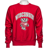 Champion Reverse Weave Wisconsin Crew Neck (Red)