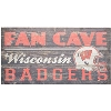 Legacy Wisconsin Badgers Fan Cave Sign (Black)