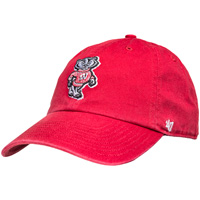 '47 Brand Bucky Badger Adjustable Hat (Red)