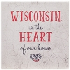 Legacy Wisconsin Is The Heart Of Our Home 4PK Coaster(Stone) thumbnail