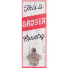 Legacy Wood Bottle Opener Badger Country (White/Red)