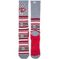 '47 Brand Bucky Badger Holiday Sock (Gray/Red)