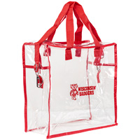 Neil Enterprises, Inc. Wisconsin Badgers Clear Tote (Red)