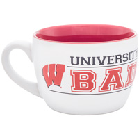 Neil Enterprises, Inc. UW Badgers Matte Mug (White/Red)