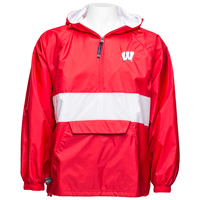 Charles River Apparel Wisconsin Pullover Jacket (Red/White)