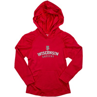 College Kids Toddler Wisconsin Hooded Long Sleeve (Red)