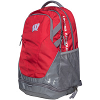 Under Armour Wisconsin Hustle 3.0 Backpack (Red)