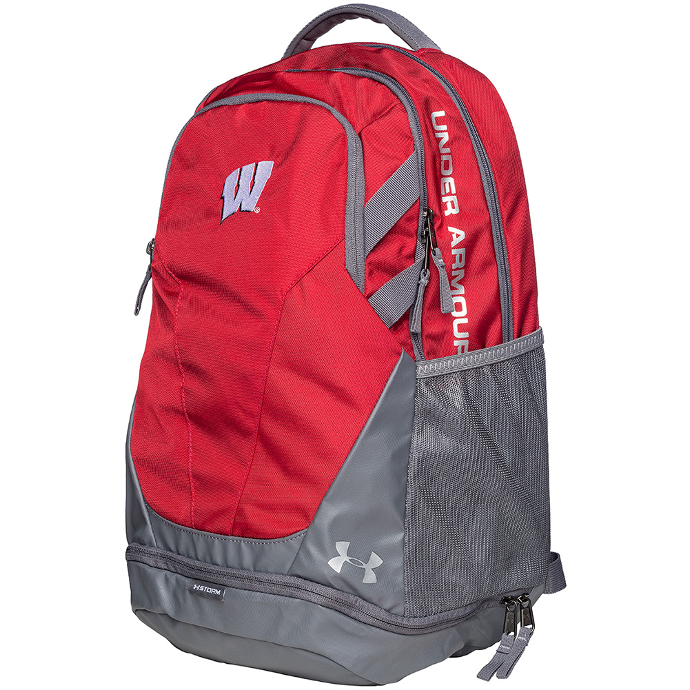fe7b0d6b8e81 Under Armour Wisconsin Hustle 3.0 Backpack (Red)