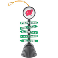 Evergreen Wisconsin Fan Crossing Ornament