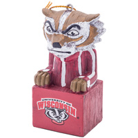 Evergreen Bucky Badger Ornament