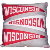 League Wisconsin Pennant Pillow