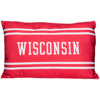 League Wisconsin Throw Pillow (Red)