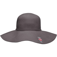 Logofit Women's Bucky Badger Felt Brim Hat (Gray)