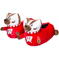 Forever Collectibles Youth Bucky Badger Slippers (Red)