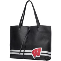 Danielle Nicole Wisconsin Badgers Tote Bag (Black)