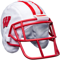 Forever Collectibles Wisconsin Helmet Hat (White/Red)