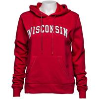 JanSport Women's Wisconsin Hooded Sweatshirt (Red) *