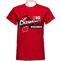 2017 Blue 84 Big Ten West Division Champions T-Shirt (Red) *