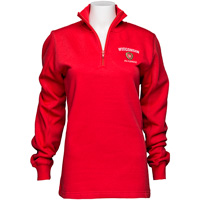 Top Promotions Women's ¼ Zip Alumni Sweatshirt (Red)