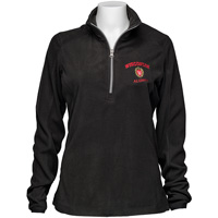 Top Promotions Women's WI Alumni ¼ Zip Fleece (Black)