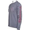 Blue 84 Bucky Badger Long Sleeve T-Shirt (Gray) thumbnail