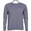 Blue 84 Bucky Badger Long Sleeve T-Shirt (Gray) thumbnail