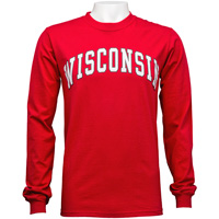 Blue 84 Wisconsin Long Sleeve T-Shirt (Red)