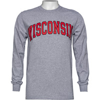 Blue 84 Wisconsin Long Sleeve T-Shirt (Gray)