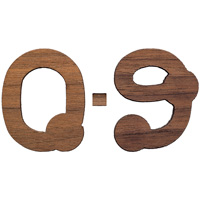 Craftique Mfg. Bubble Wooden Numbers (¾ Inch)