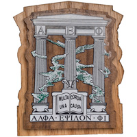 Craftique Mfg. Double Wooden Crest (Alpha Epsilon Phi)