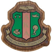 Craftique Mfg. Double Wooden Crest (Alpha Kappa Alpha)