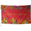 Alexandra and Company Alpha Chi Omega Flag (Red)