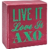 Alexandra and Company Alpha Chi Omega Wooden Plaque