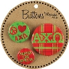 Alexandra and Company Alpha Chi Omega Plaid Buttons
