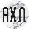 Alexandra and Company Alpha Chi Omega Marble Sticker