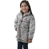 Boxercraft Youth Wisconsin ¼ Zip Sherpa Sweatshirt (Gray)