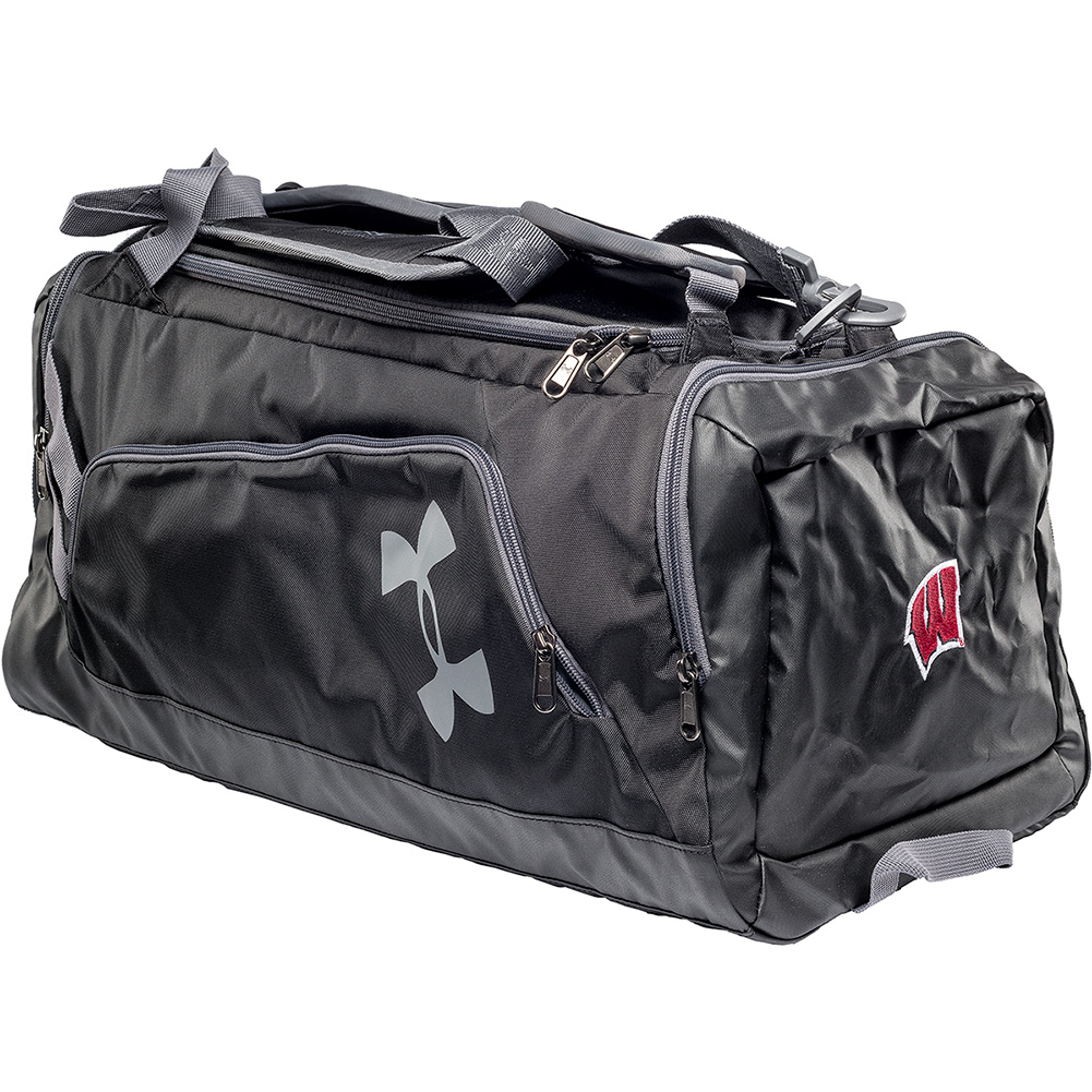 5e8fb190f014 Under Armour Wisconsin UA Contain Duo Backpack Duffel (Blk ...