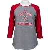 Under Armour Women's Badgers Baseball Tee (Red/Gray) *