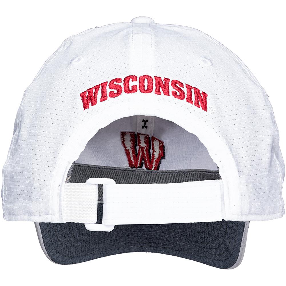 79d8e58969b ... Under Armour Women s Wisconsin Armourvent Hat (White) thumbnail