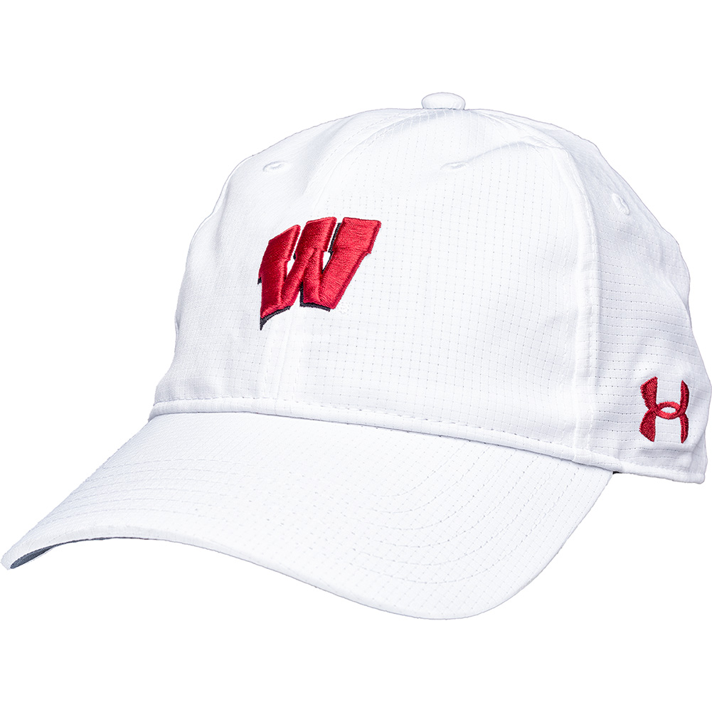 e6582fe1ccb Under Armour Women s Wisconsin Armourvent Hat (White) thumbnail ...