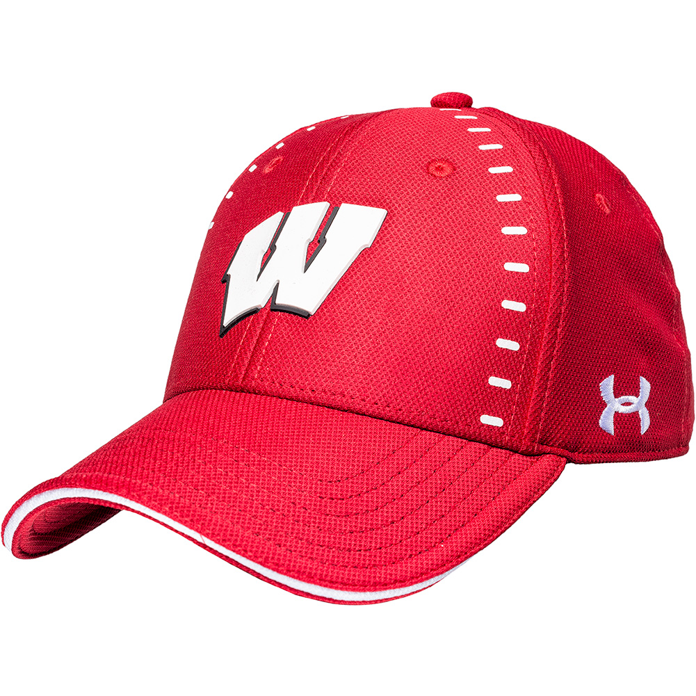0741d117031 Under Armour Wisconsin Sideline Blitzing Hat (Red)   thumbnail ...