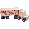 Neil Enterprises Inc. Wisconsin Wooden Semi-Truck Toy